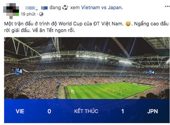 Thua Nhật Bản nhưng người hâm mộ vẫn động viên tuyển Việt Nam: Về ăn Tết thôi, các em vất vả quá rồi! - Ảnh 3.