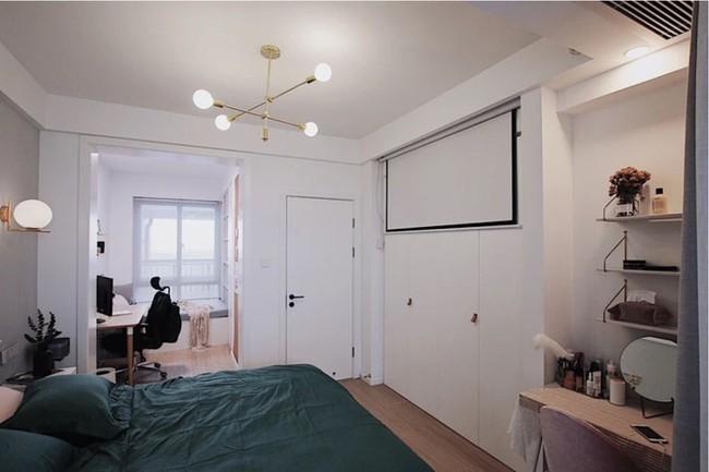 Căn hộ 70m² trên tầng 33 đẹp hút hồn với thiết kế gạch sàn bếp hình lục giác độc đáo - Ảnh 11.