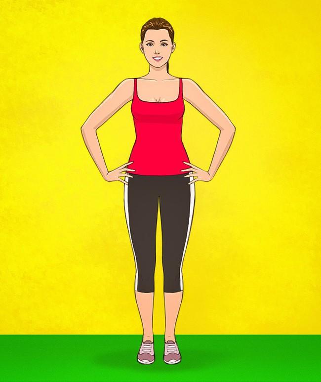 HLV Nhật Bản hướng dẫn bài tập đơn giản có thể giúp giảm bớt bụng xệ chỉ trong 3 tuần - Ảnh 2.