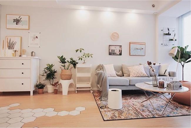 Căn hộ 70m² trên tầng 33 đẹp hút hồn với thiết kế gạch sàn bếp hình lục giác độc đáo - Ảnh 5.