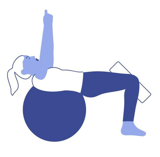 Các bài tập với bóng tăng cường khả năng cân bằng và sức mạnh của cơ thể - Ảnh 3.