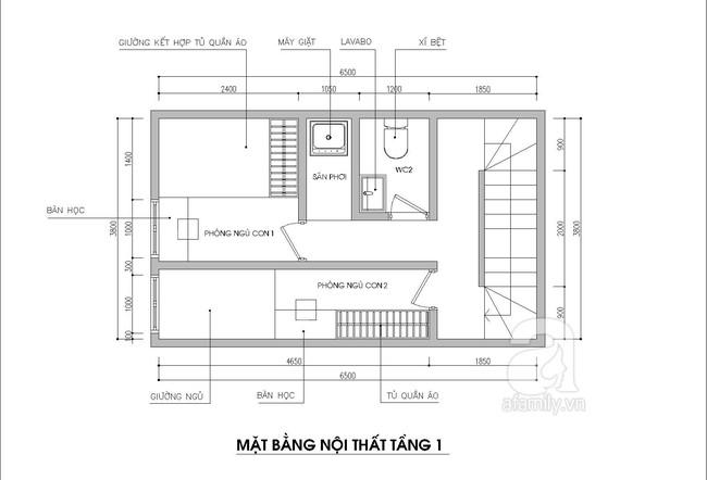 Tư vấn thiết kế nhà ống 2,5 tầng rộng 24m² có 3 phòng ngủ thoáng mát - Ảnh 3.
