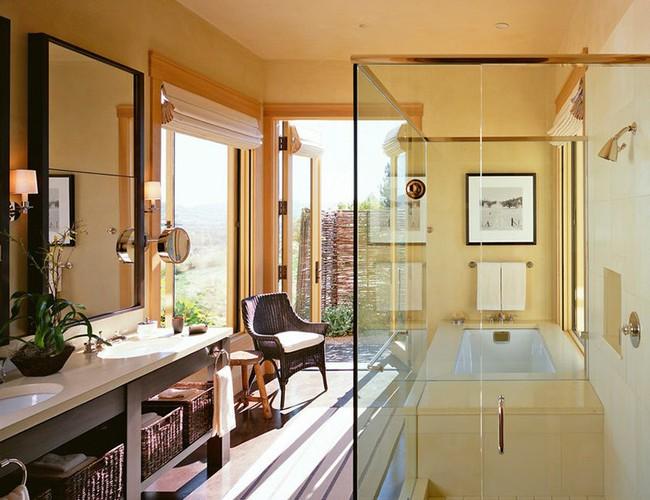 Bất kể diện tích lớn nhỏ, chỉ nhờ mẹo thiết kế này mà căn phòng tắm luôn khiến người dùng thoải mái - Ảnh 5.