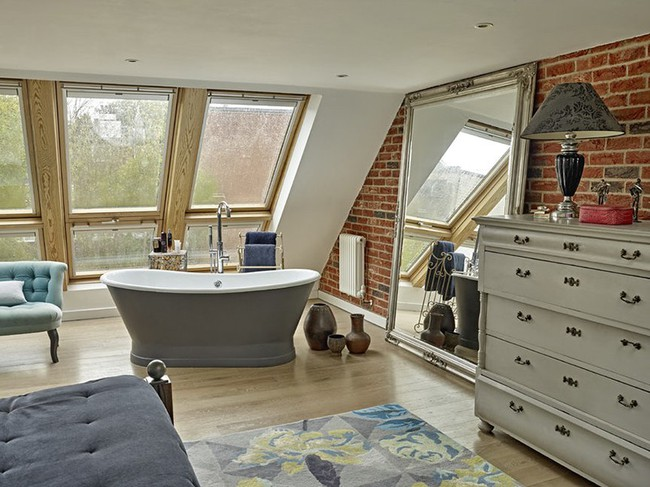 Bất kể diện tích lớn nhỏ, chỉ nhờ mẹo thiết kế này mà căn phòng tắm luôn khiến người dùng thoải mái - Ảnh 6.