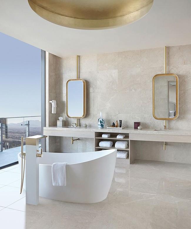 Bất kể diện tích lớn nhỏ, chỉ nhờ mẹo thiết kế này mà căn phòng tắm luôn khiến người dùng thoải mái - Ảnh 7.