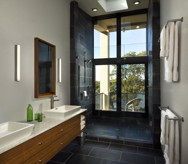 Bất kể diện tích lớn nhỏ, chỉ nhờ mẹo thiết kế này mà căn phòng tắm luôn khiến người dùng thoải mái - Ảnh 8.