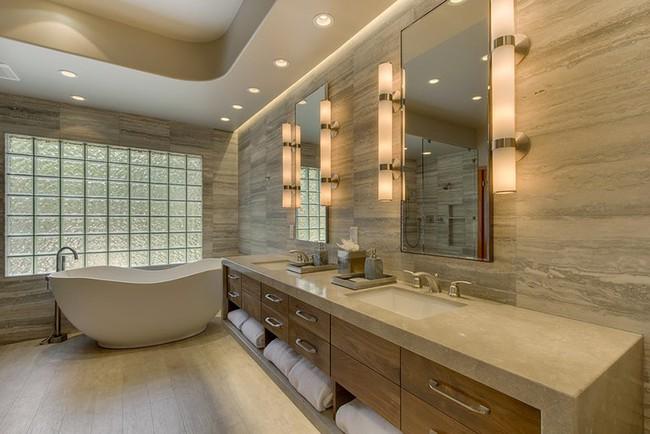Bất kể diện tích lớn nhỏ, chỉ nhờ mẹo thiết kế này mà căn phòng tắm luôn khiến người dùng thoải mái - Ảnh 11.
