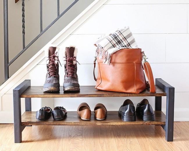 8 thiết kế kệ giày dép thời trang, thanh lịch nhưng đơn giản có thể tự làm tại nhà mà không tốn nhiều sức - Ảnh 2.