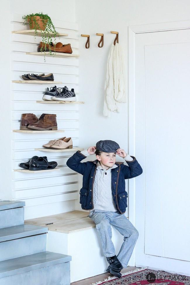 8 thiết kế kệ giày dép thời trang, thanh lịch nhưng đơn giản có thể tự làm tại nhà mà không tốn nhiều sức - Ảnh 3.