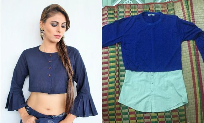 Mua online crop top siêu xinh diện Tết, cô nàng nhận về chiếc áo giống mỗi tông màu xanh còn lại tất cả đều sai - Ảnh 1.