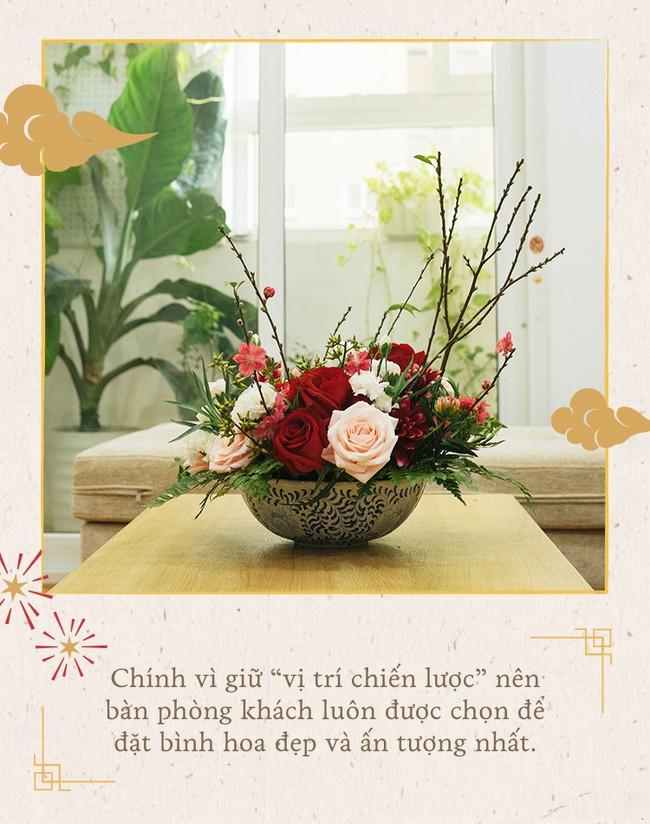 Mẹ 8x Hà Nội hướng dẫn 3 cách dùng hoa truyền thống, giá dưới 500 ngàn để trang trí nhà đón Tết - Ảnh 7.