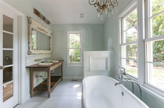 20 ý tưởng cần học ngay để có một phòng tắm đẹp sang trọng và lãng mạn trong dịp năm mới - Ảnh 2.