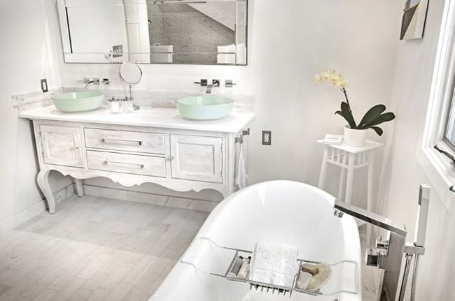 20 ý tưởng cần học ngay để có một phòng tắm đẹp sang trọng và lãng mạn trong dịp năm mới - Ảnh 6.