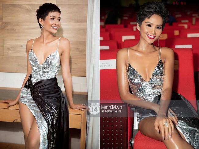 Diện lại đầm khoe ngực đầy, chân thon từ Miss Universe, H'Hen Niê quá cao tay khi thay đổi điều này - Ảnh 6.