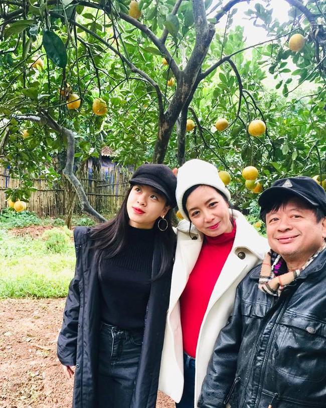 Sát Tết, NSƯT Chiều Xuân thu hoạch cả nghìn quả bưởi ở khu vườn của gia đình - Ảnh 4.