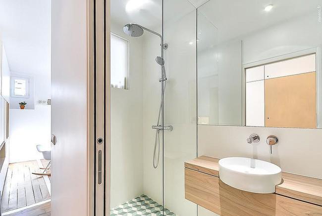 5 ý tưởng xây dựng phòng tắm trong căn hộ nhỏ giúp tối đa hóa không gian - Ảnh 12.