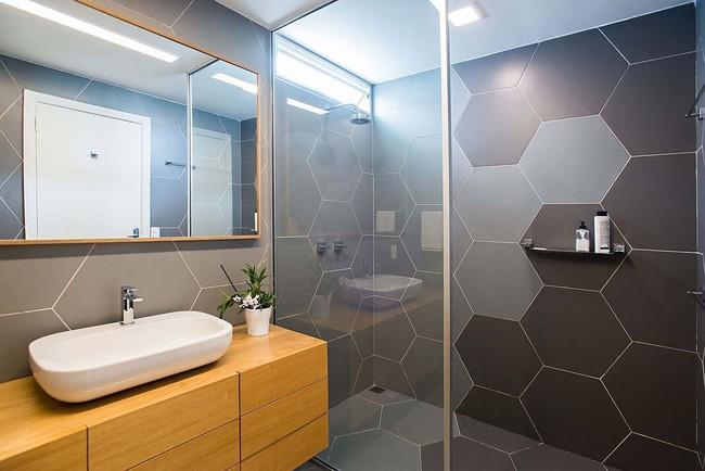 5 ý tưởng xây dựng phòng tắm trong căn hộ nhỏ giúp tối đa hóa không gian - Ảnh 13.