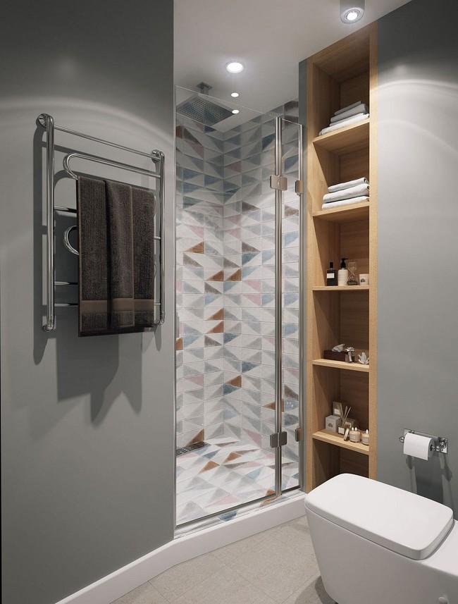 5 ý tưởng xây dựng phòng tắm trong căn hộ nhỏ giúp tối đa hóa không gian - Ảnh 16.