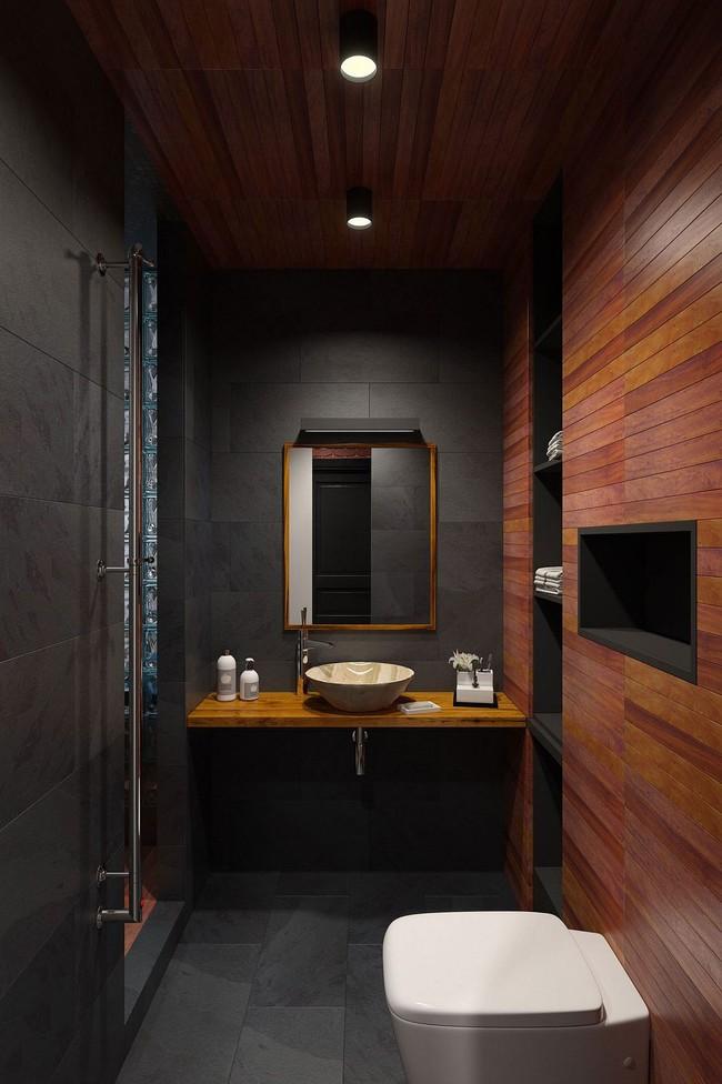 5 ý tưởng xây dựng phòng tắm trong căn hộ nhỏ giúp tối đa hóa không gian - Ảnh 25.