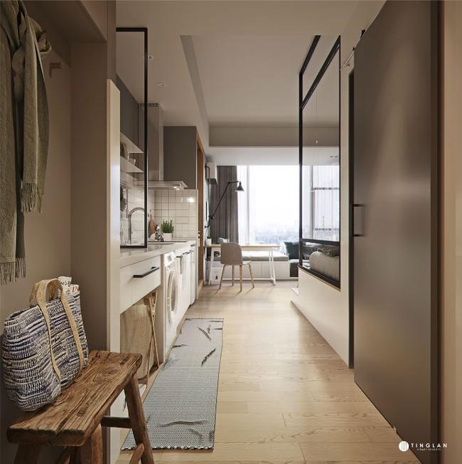 Căn hộ studio 20m² nhìn rộng hơn thực tế rất nhiều nhờ thiết kế hiện đại - Ảnh 2.
