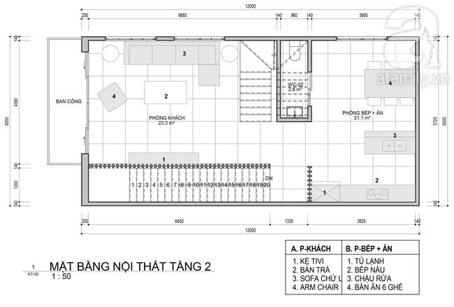 Tư vấn thiết kế nhà ở gia đình có diện tích (6x12m) cho 4 người với chi phí gần 3 tỷ đồng - Ảnh 2.