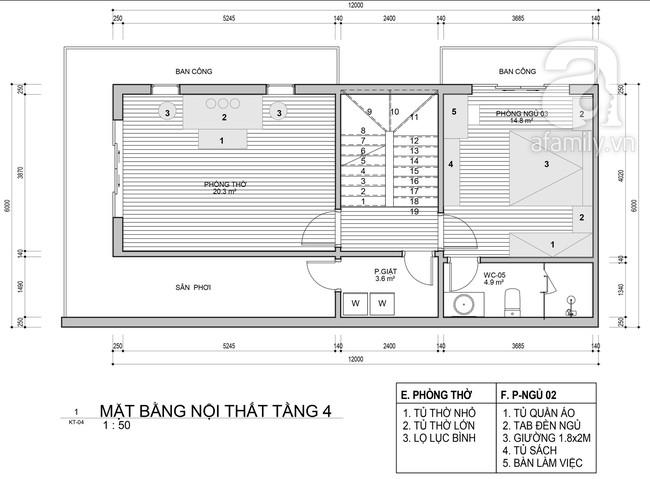 Tư vấn thiết kế nhà ở gia đình có diện tích (6x12m) cho 4 người với chi phí gần 3 tỷ đồng - Ảnh 4.