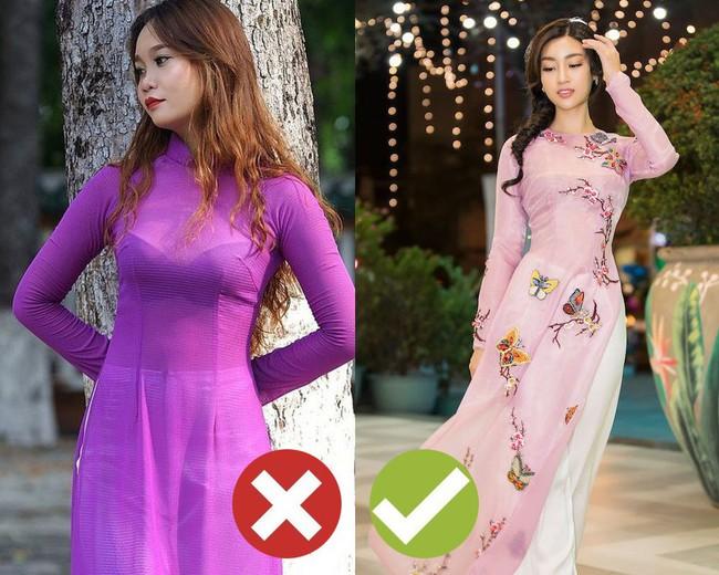"""5 kiểu áo dài nhìn thôi đã thấy """"nóng mắt"""", Tết này các nàng cần tránh xa nếu không muốn bị chê thảm họa - Ảnh 1."""