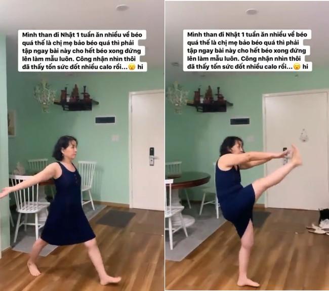 Mẹ Chi Pu có bài tập giảm béo, giữ dáng cực thần kỳ mà cô con gái nổi tiếng cũng phải trầm trồ thán phục - Ảnh 2.