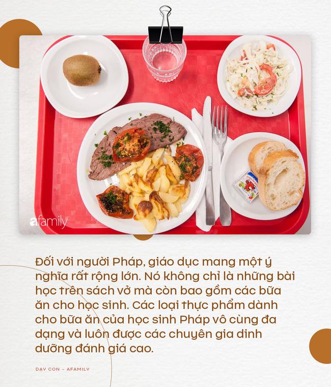 Nhìn vào thực đơn ăn trưa của học sinh Pháp, không ít trường quốc tế của Việt Nam phải muối mặt vì độ dinh dưỡng không bằng một góc - Ảnh 2.