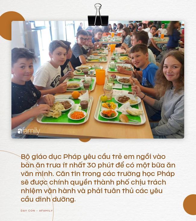Nhìn vào thực đơn ăn trưa của học sinh Pháp, không ít trường quốc tế của Việt Nam phải muối mặt vì độ dinh dưỡng không bằng một góc - Ảnh 3.
