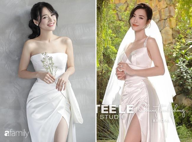 Nhiều điểm giống với váy của Nhã Phương, bảo sao nhìn váy cưới của Đông Nhi thấy cứ quen quen - Ảnh 1.