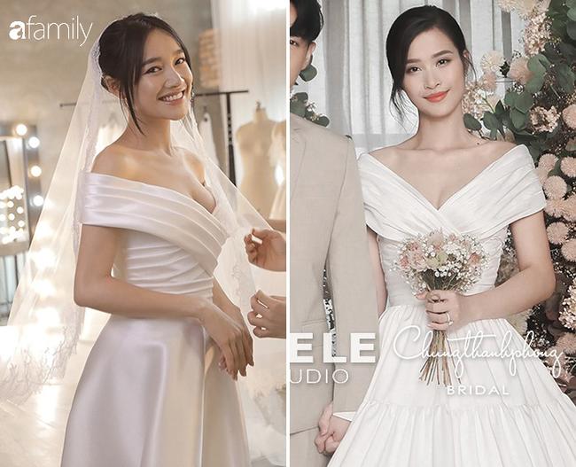 Nhiều điểm giống với váy của Nhã Phương, bảo sao nhìn váy cưới của Đông Nhi thấy cứ quen quen - Ảnh 3.