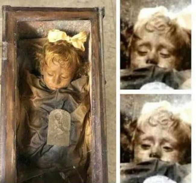 """Bí ẩn về """"thiên thần say ngủ"""": Xác ướp bé gái gần trăm năm vẫn còn chớp mắt khiến ai cũng lạnh người - Ảnh 3."""