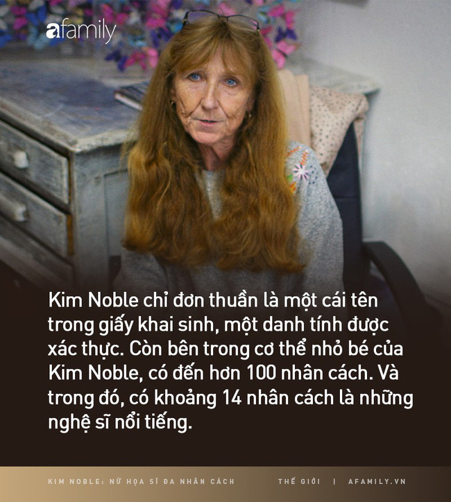 Kim Noble: Nữ họa sĩ có hơn 100 bản ngã và 14 phong cách hội hoạ từ các nhân cách khác nhau cùng chung một nỗi đau quá khứ - Ảnh 1.
