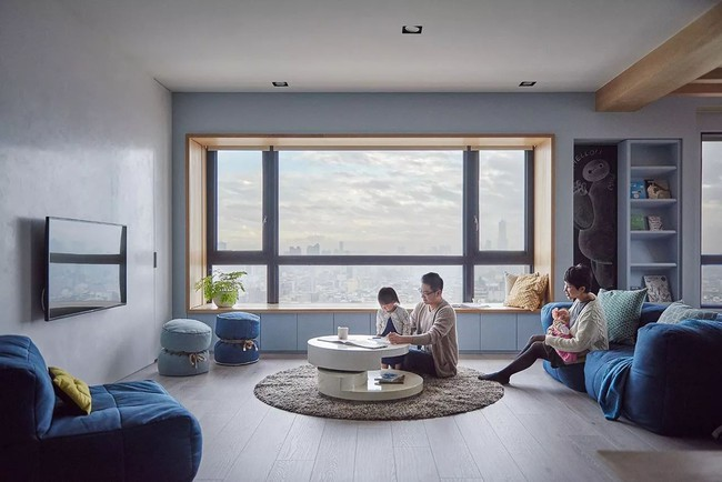 Bí mật trong căn hộ màu xanh khiến tất cả các gia đình trẻ đều hài lòng khi ngắm nhìn - Ảnh 1.