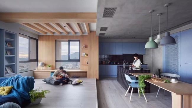 Bí mật trong căn hộ màu xanh khiến tất cả các gia đình trẻ đều hài lòng khi ngắm nhìn - Ảnh 7.