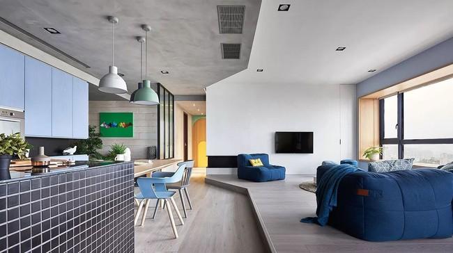 Bí mật trong căn hộ màu xanh khiến tất cả các gia đình trẻ đều hài lòng khi ngắm nhìn - Ảnh 5.