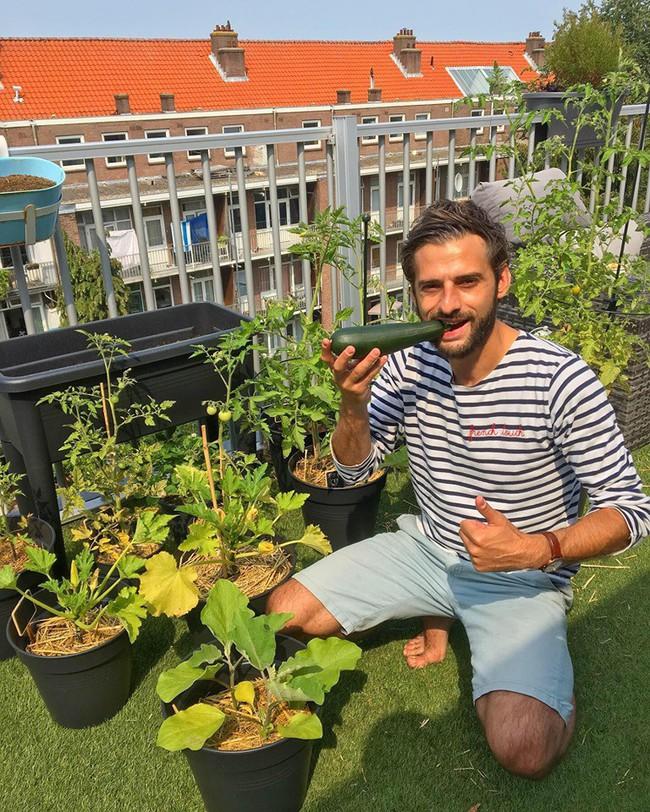 Anh chàng điển trai khiến hàng nghìn cô gái ngưỡng mộ khi trồng cả một sân thượng rau quả xanh tươi - Ảnh 5.