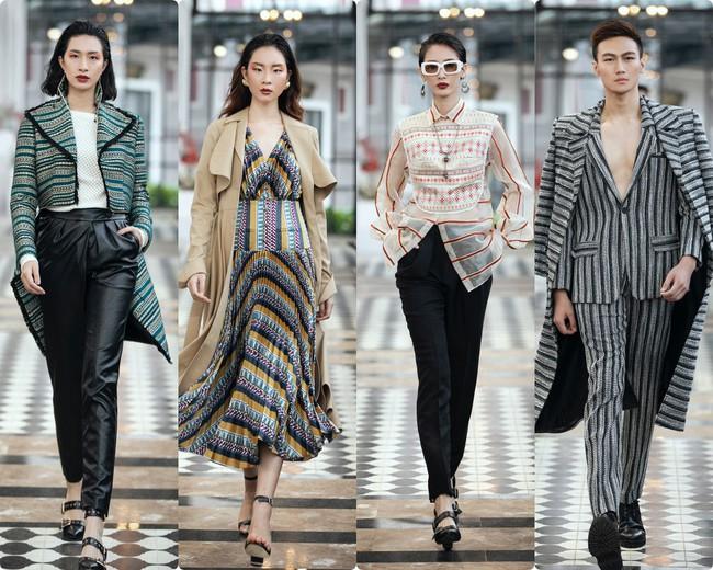 Tiểu Vy, Lương Thùy Linh - cặp chị em Hoa hậu làm vedette trong show diễn của NTK Lê Thanh Hòa - Ảnh 4.