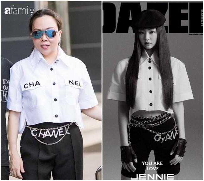 """Nhìn Phượng Chanel 3 lần đụng hàng với Jennie (Black Pink) mới thấy: Danh xưng """"kẻ hủy diệt đồ hiệu"""" quả không sai chút nào - Ảnh 2."""