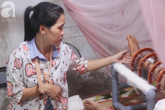 Con gái 7 tuổi bị gãy chân, chồng nằm liệt giường, người vợ bệnh tật khẩu cầu sự giúp đỡ sau vụ tai nạn kinh hoàng - Ảnh 10.