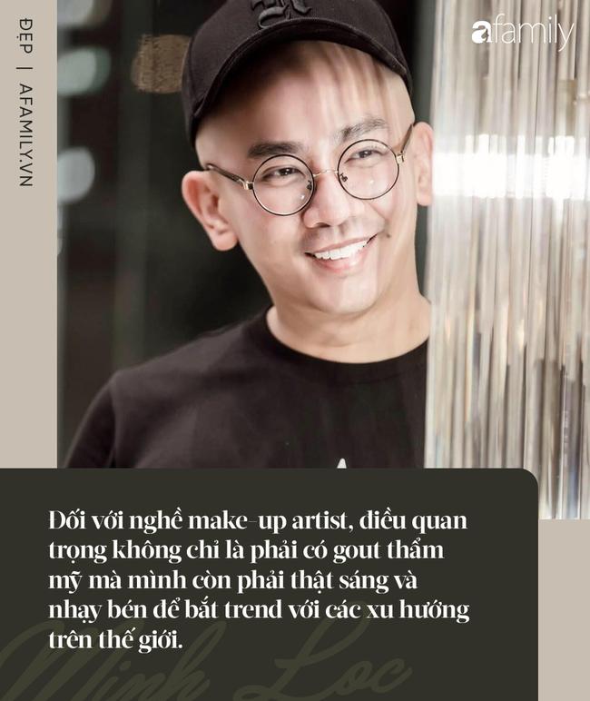 Chuyên gia trang điểm Minh Lộc: Cầm cọ từ năm 17 tuổi và  - Ảnh 4.