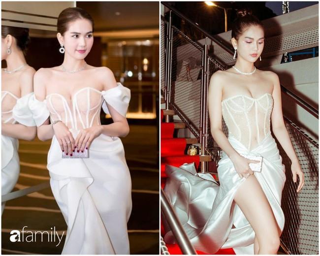 """Ngọc Trinh diện đầm dễ gây hiểu nhầm, và sao lại giống bộ váy như """"quấn khăn tắm đi tiệc"""" tại Cannes thế này - Ảnh 1."""