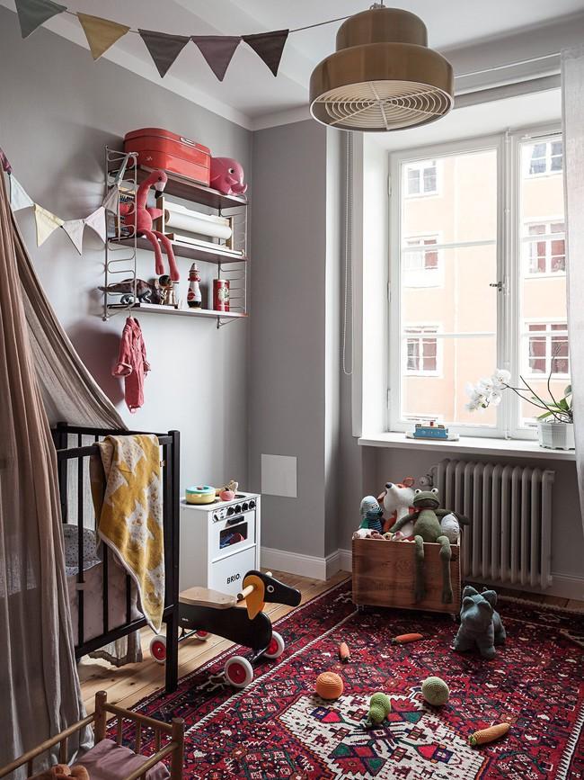 Căn hộ rộng 75m2 được trang trí với sắc màu tươi vui, mát mắt quá đỗi phù hợp cho nhà có trẻ nhỏ - Ảnh 10.