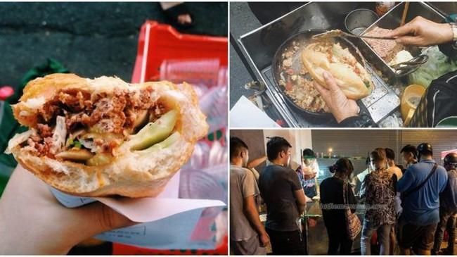 """Là dân sành ăn thì phải thử """"bánh mỳ dân tổ"""" xếp hàng đông nghịt 3h sáng ở Hà Nội - Ảnh 1."""