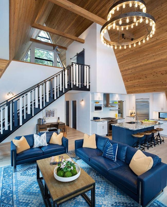 Ngôi nhà trong rừng đẹp như bước ra từ cổ tích cực thân thiện với không gian núi rừng - Ảnh 3.