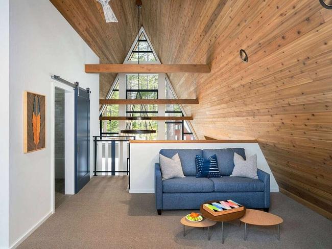 Ngôi nhà trong rừng đẹp như bước ra từ cổ tích cực thân thiện với không gian núi rừng - Ảnh 6.