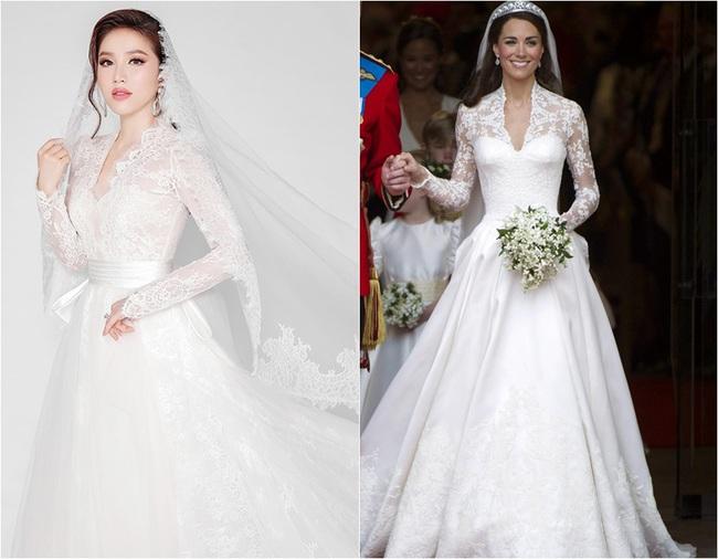 Bảo Thy cũng khoe 3 mẫu váy cưới đẹp mê hồn, trong đó có 1 thiết kế phảng phất bộ váy cưới kinh điển của Công nương Kate - Ảnh 8.