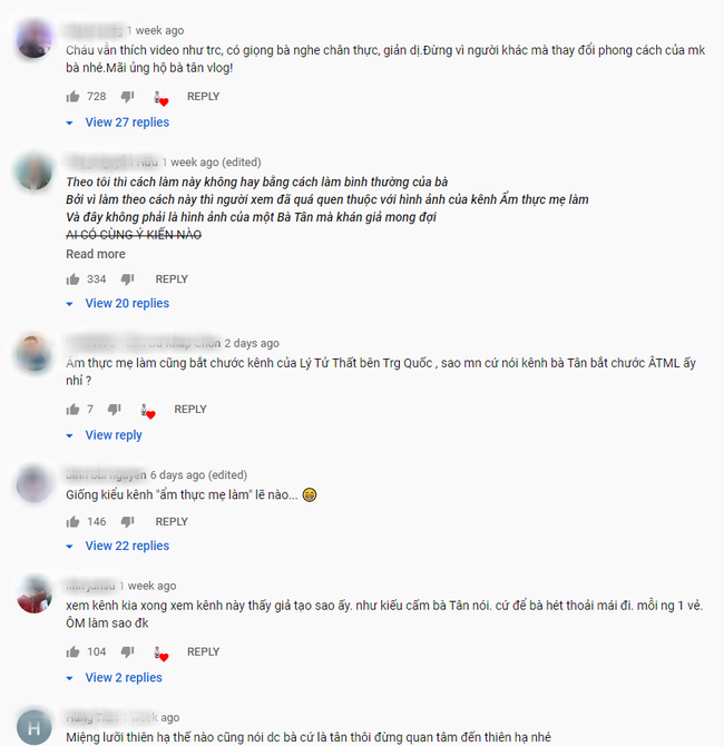 """Bà Tân Vlog tuyên bố thay đổi cách làm clip, ai ngờ lại bị dân mạng soi đi """"sao chép"""" ý tưởng của kênh ẩm thực nổi tiếng khác - Ảnh 8."""