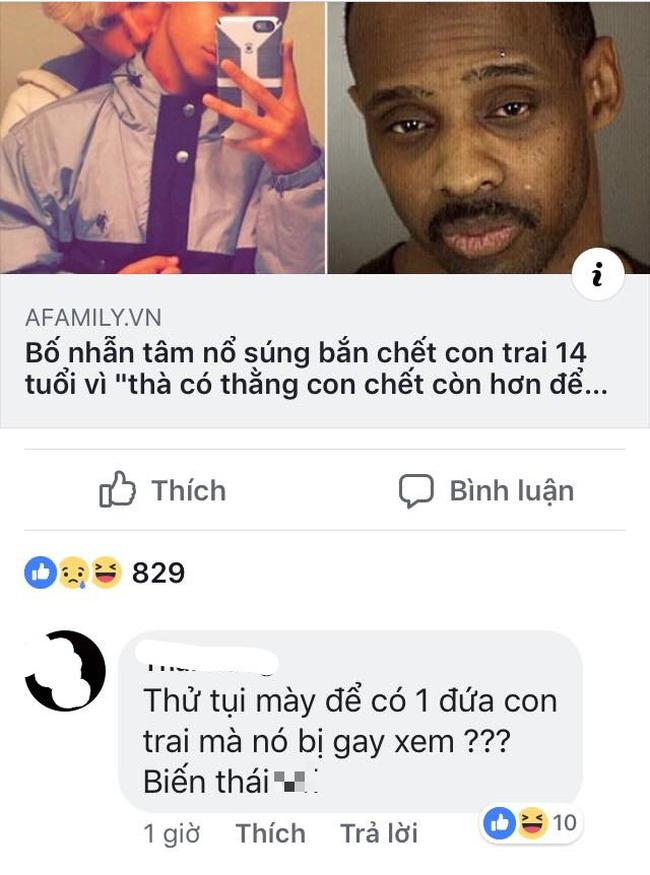 Sau vụ án kinh hoàng cha giết con trai vì con là người đồng tính, cư dân mạng Việt đã có những bình luận nằm ngoài sức tưởng tượng!  - Ảnh 3.